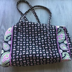 Vera Bradley Large Duffle - Retired Pink Elephant